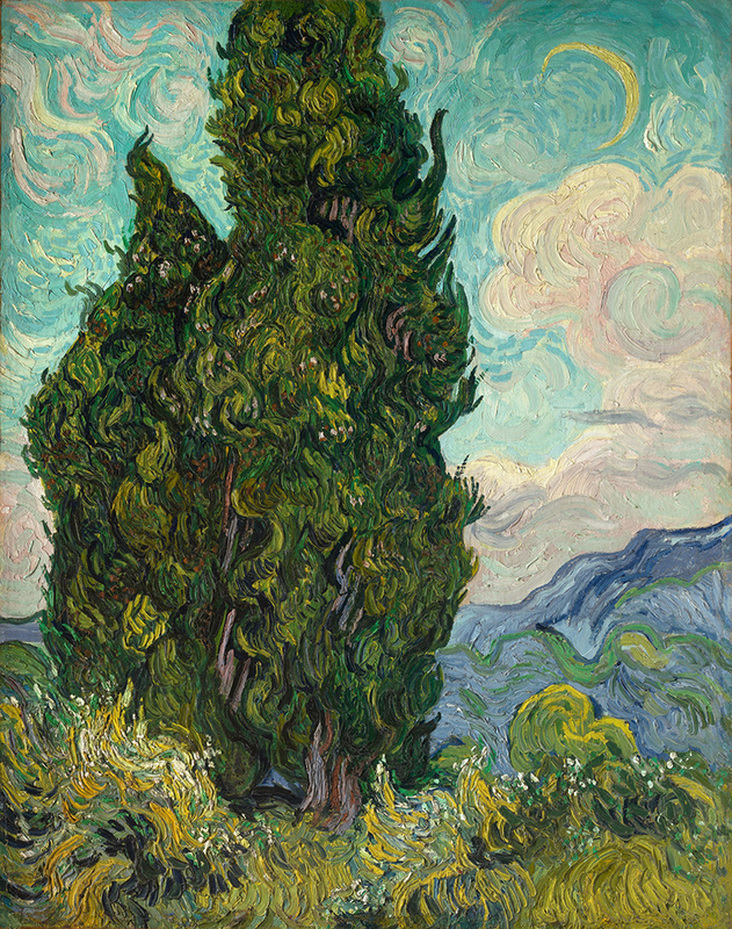 Two Cypresses by Vincent van Gogh | Lone Quixote