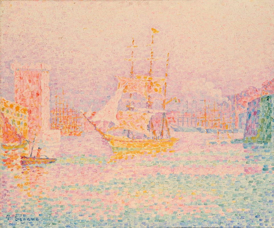 The Harbor at Marseille by Paul Signac