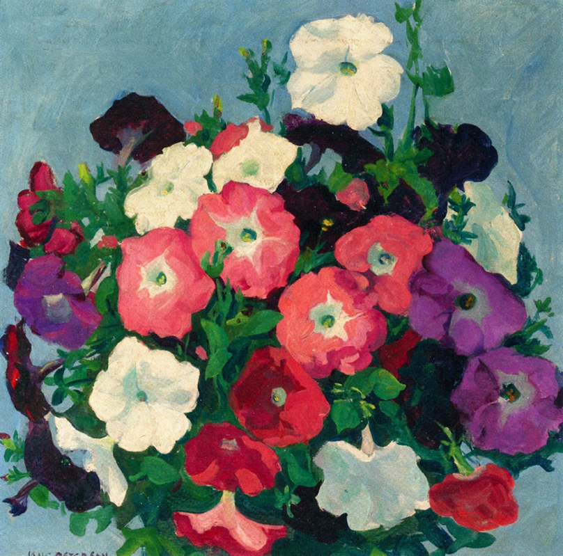 A Bouquet of Petunias by Jane Peterson