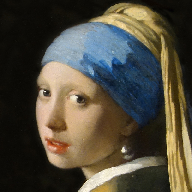 Girl with a Pearl Earring (detail) by Johannes Vermeer | Lone Quixote