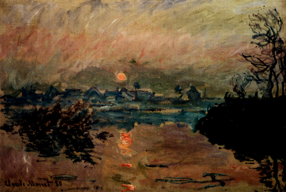 Sunset by Claude Monet