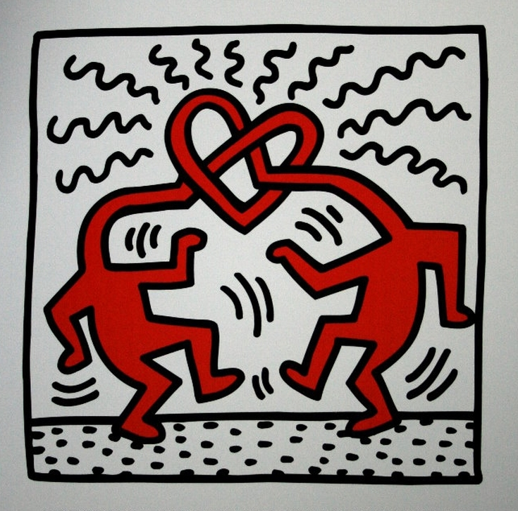 Untitled, 1989 by  Keith Haring | Lone Quixote