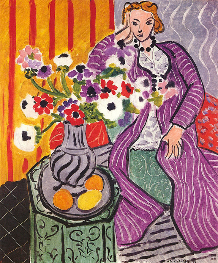 Purple Robe and Anemones by Henri Matisse