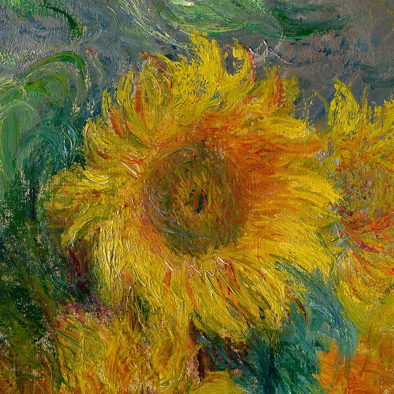 Bouquet of Sunflowers (detail) by Claude Monet | Lone Quixote