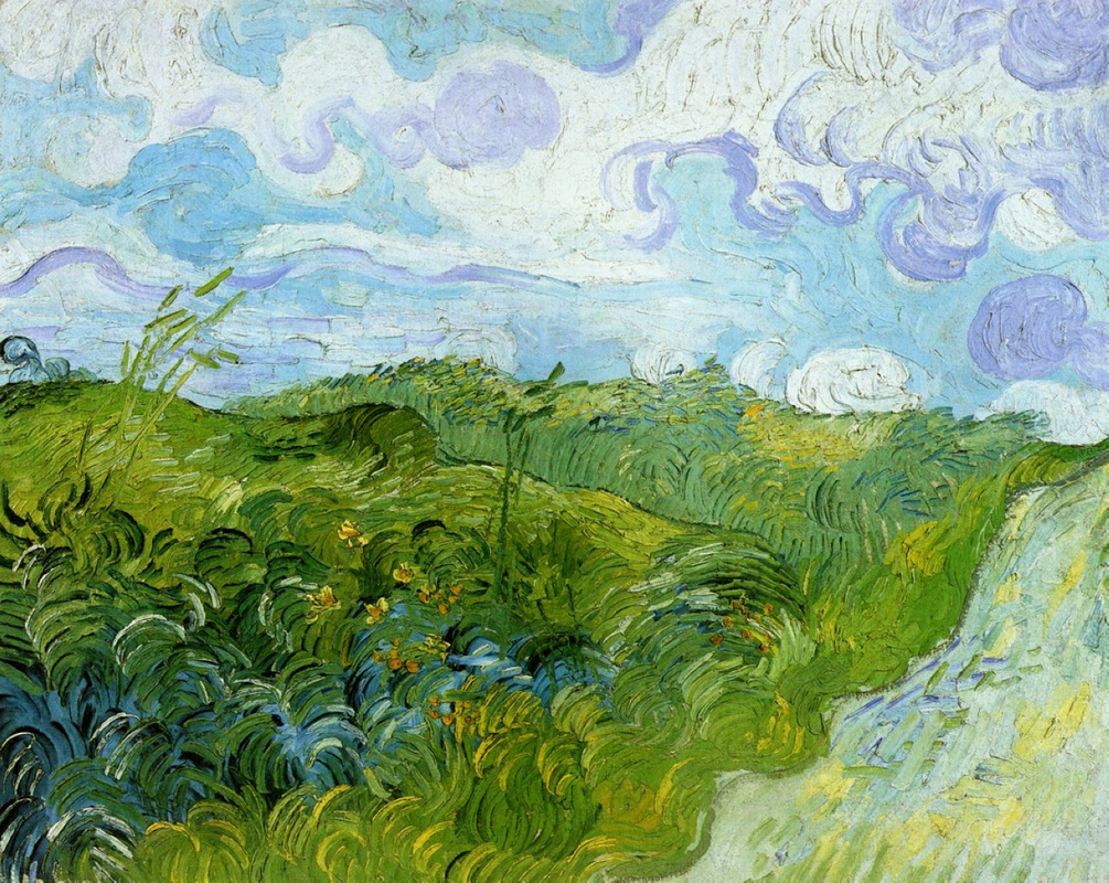 Green Wheat Fields by Vincent van Gogh | Lone Quixote