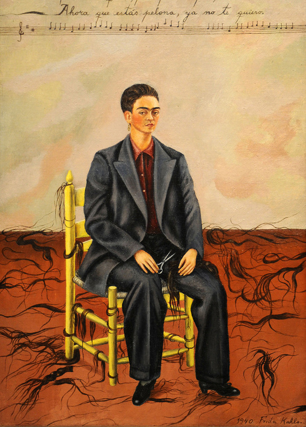 Self Portrait with Cropped Hair by Frida Kahlo | Lone Quixote