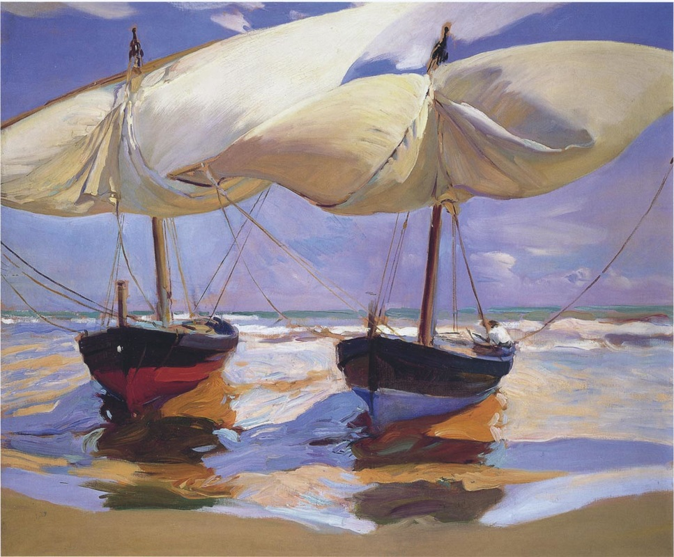 Beached Boats by Joaquin Sorolla