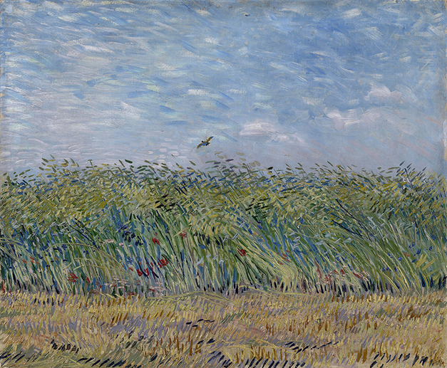 Wheat Field with a Lark by Vincent van Gogh | Lone Quixote