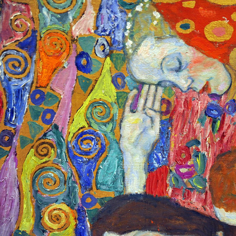 Hope II (detail) by Gustav Klimt | Lone Quixote