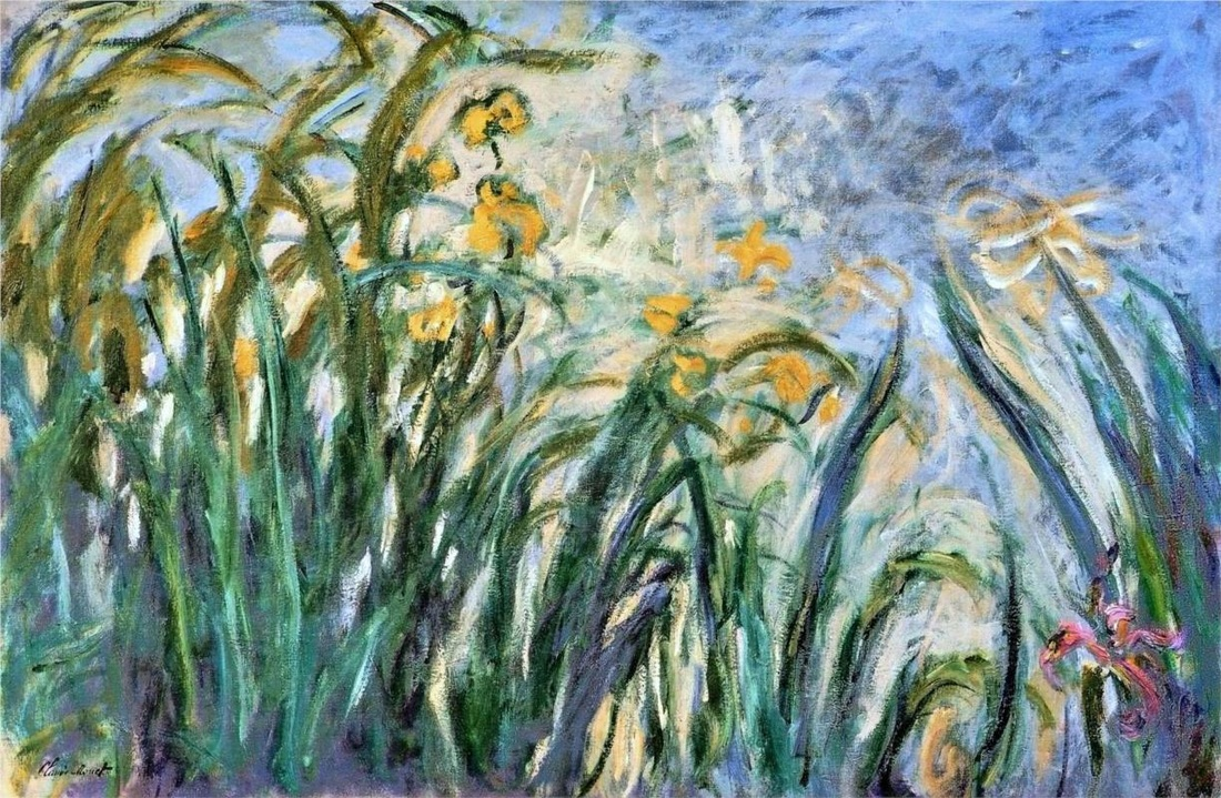 Yellow Irises and Malva by Claude Monet | Lone Quixote