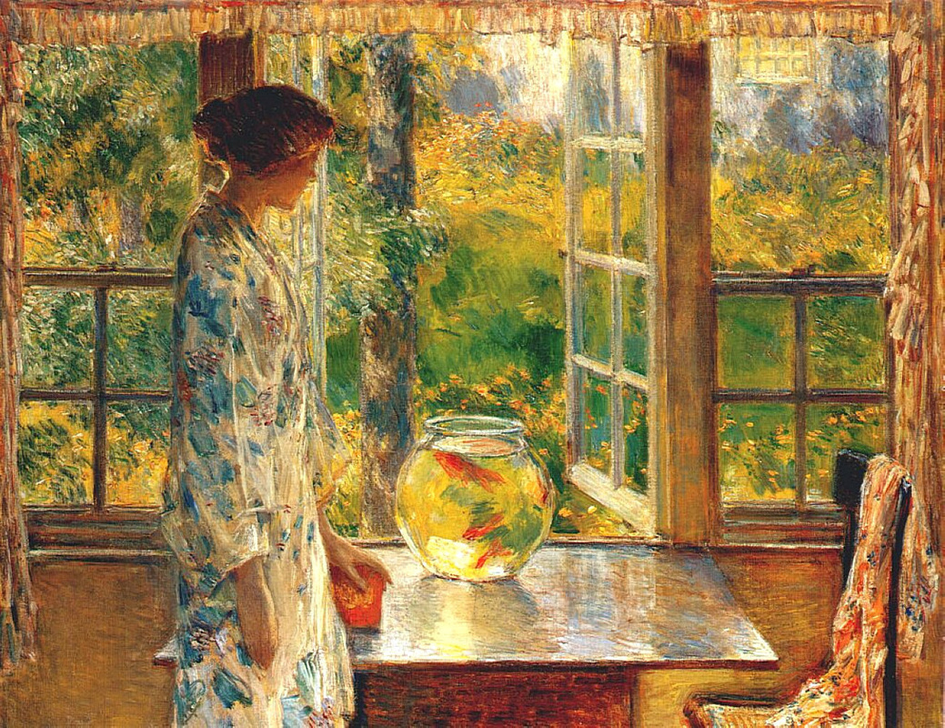 Bowl of Goldfish by Childe Hassam