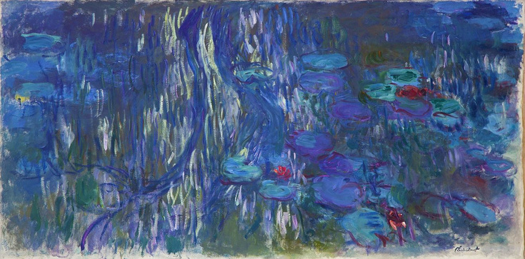 Water Lilies, Willow Reflections by Claude Monet | Lone Quixote