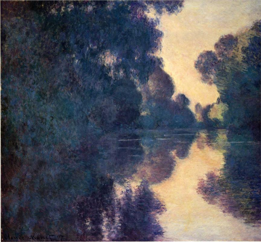 Morning on the Seine, Clear Weather by Claude Monet