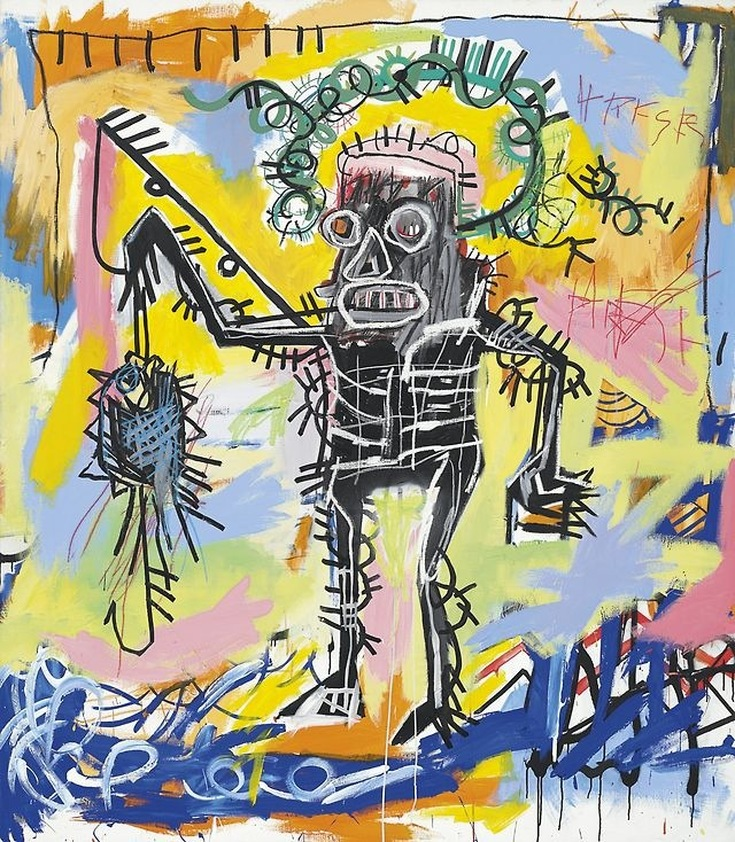 Fishing by Jean-Michel Basquiat | Lone Quixote