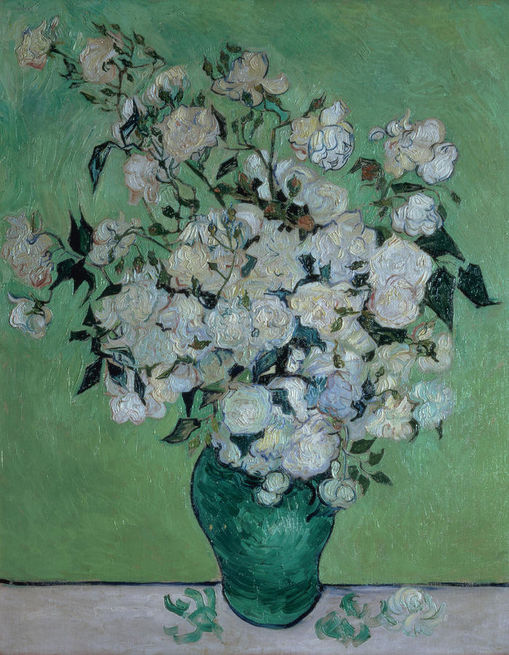 A Vase Of Roses by Vincent van Gogh