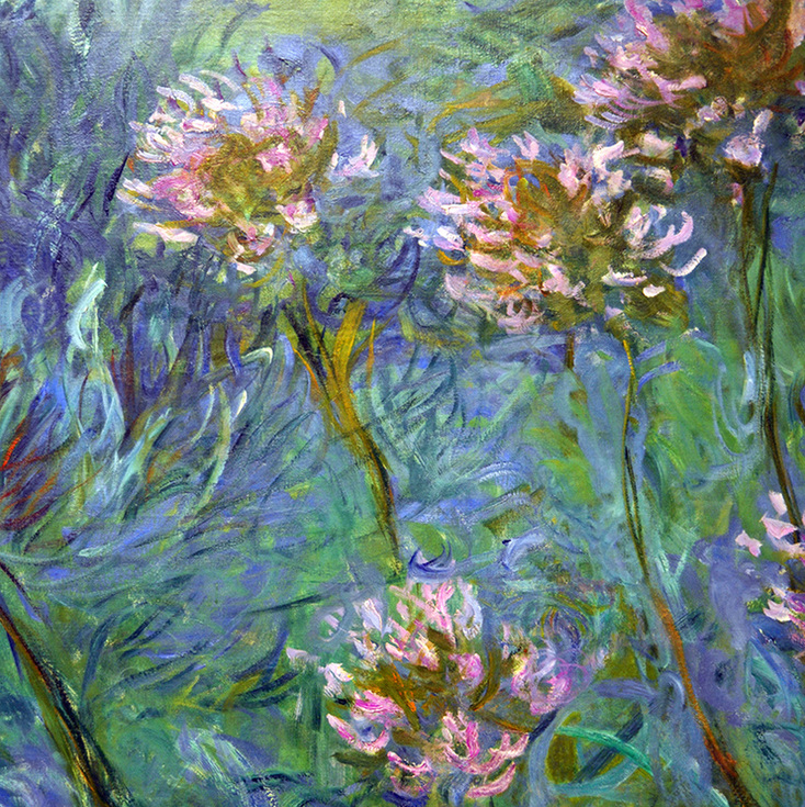Agapanthus (detail) by Claude Monet
