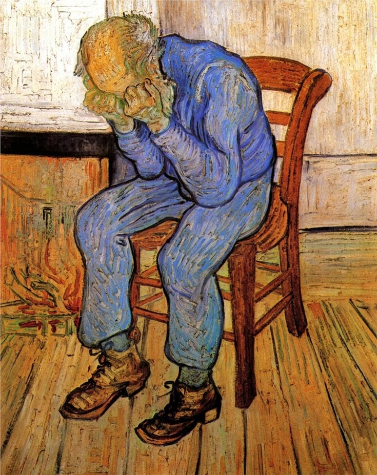 Old Man in Sorrow (On the Threshold of Eternity) by Vincent van Gogh | Lone Quixote