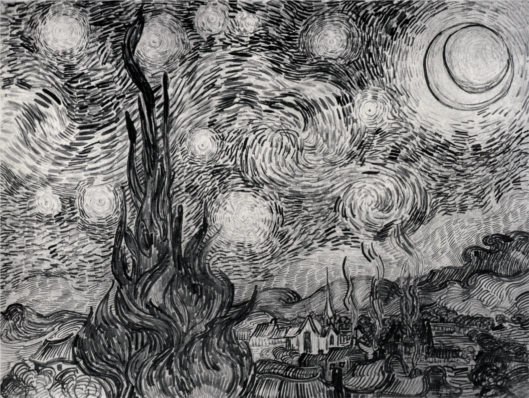 Starry Night (study) by Vincent van Gogh | Lone Quixote
