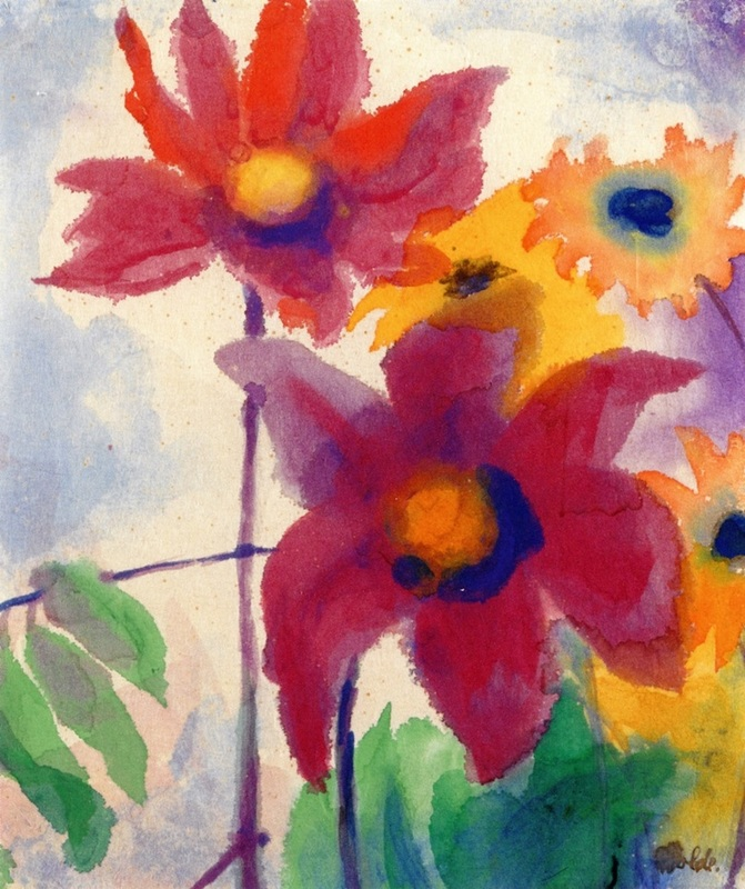 Asters and Small Sunflowers by Emil Nolde | Lone Quixote