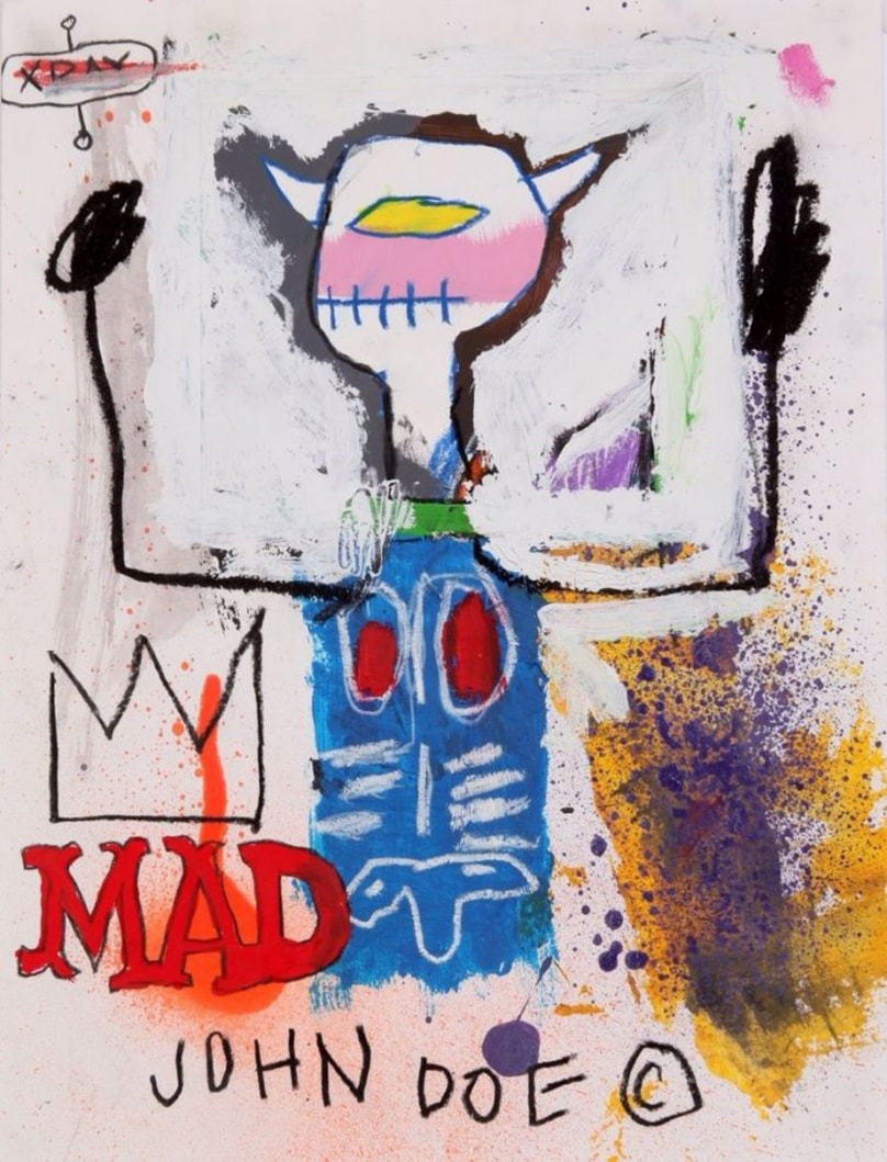 Mad King (1981) by  Jean-Michel Basquiat