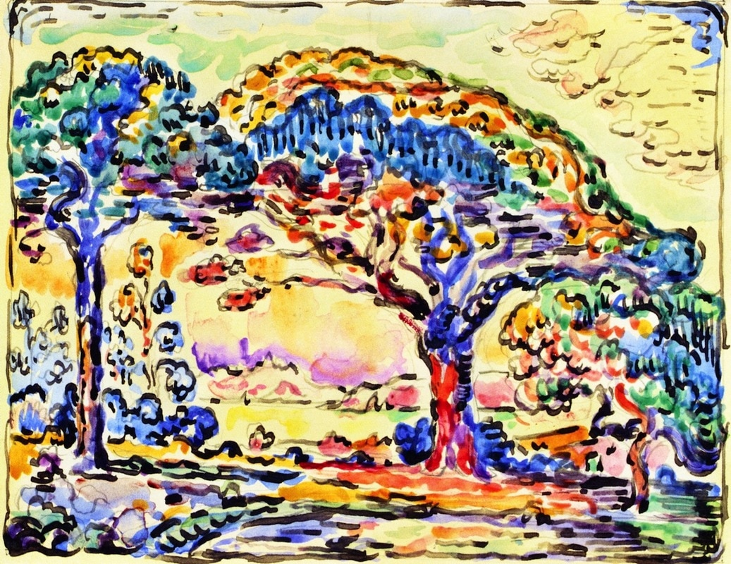 Bay of San Tropez by Paul Signac