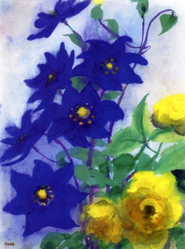 Blue and Yellow Flowers by Emil Nolde | Lone Quixote