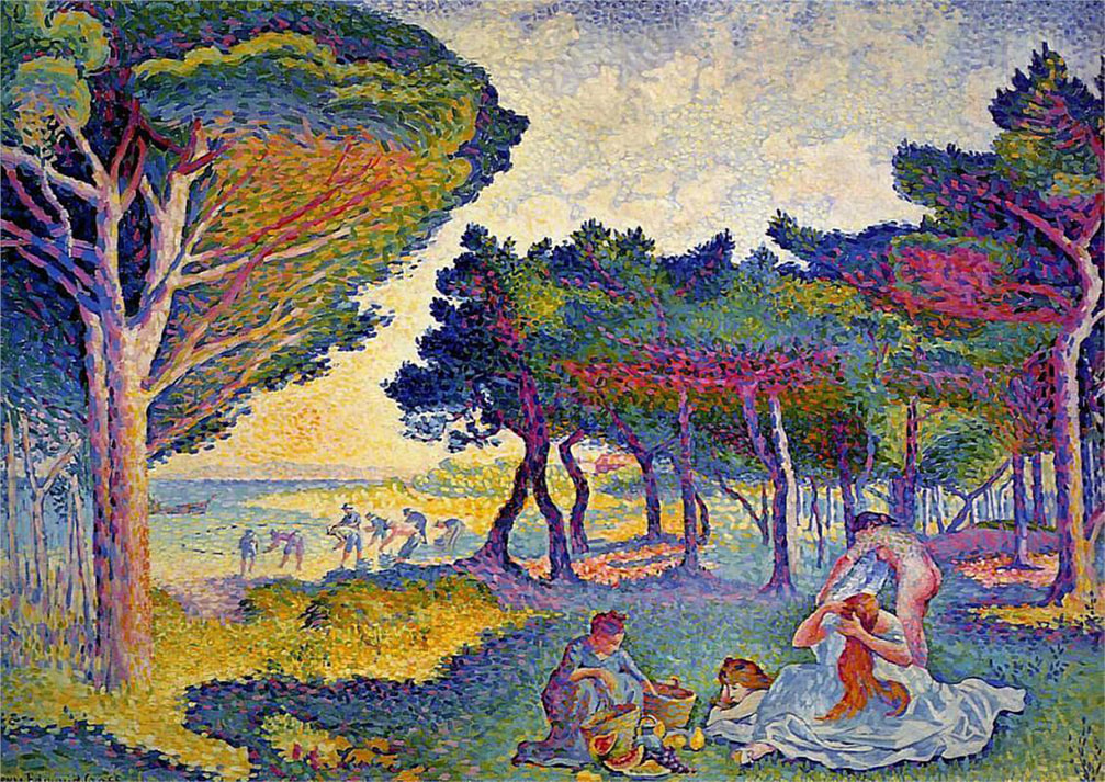 ​By the Mediterranean by Henri Edmond Cross