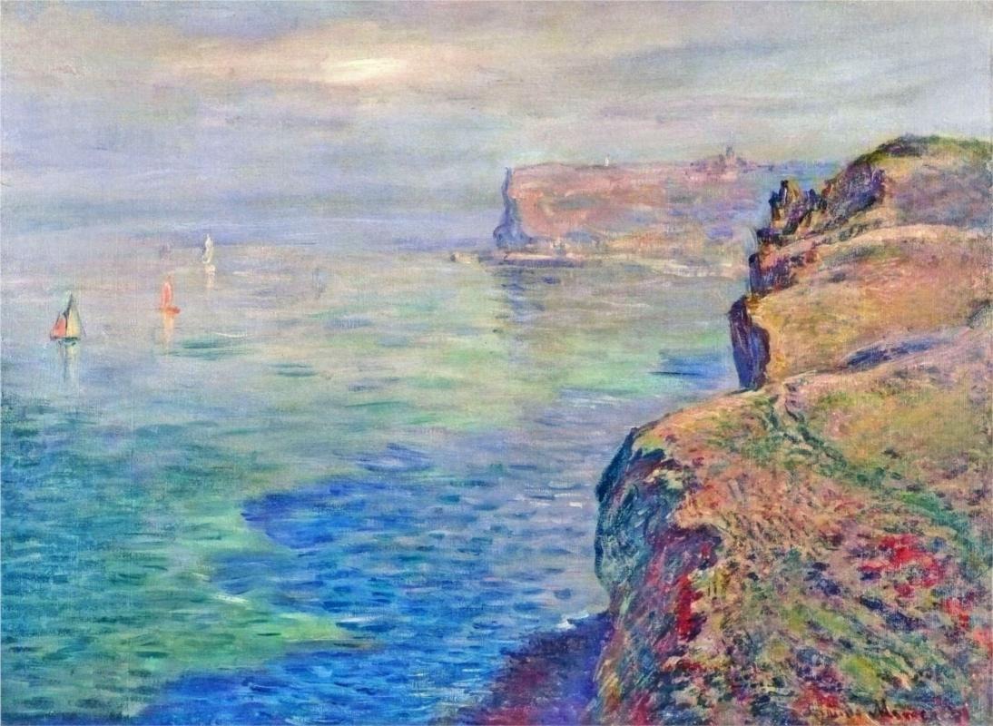 Cliff at Grainval Near Fecamp by Claude Monet