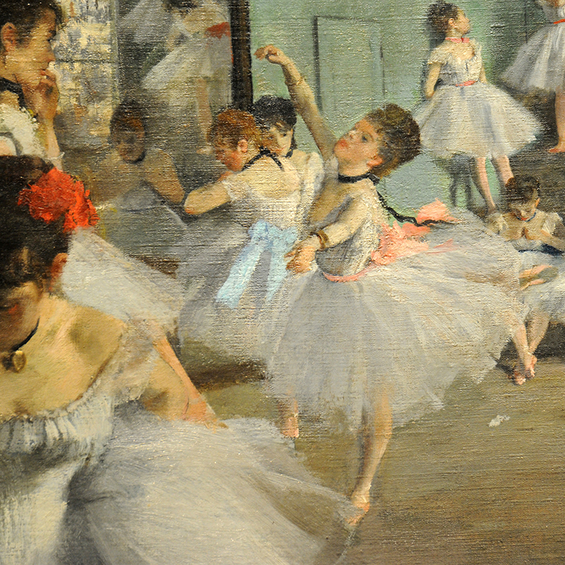 The Dance Class (detail) 1874 by Edgar Degas