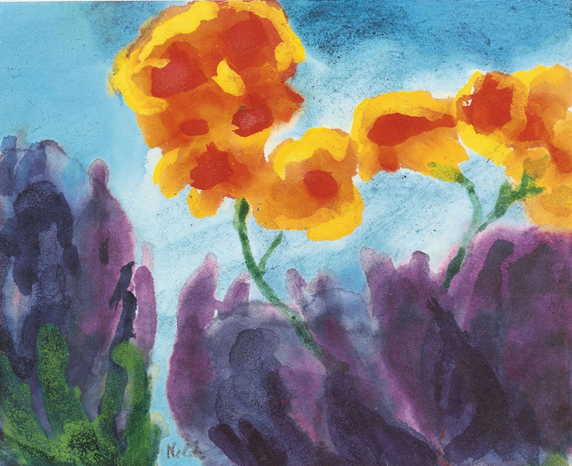 Garden Flowers, Yellow and Violet by Emil Nolde | Lone Quixote