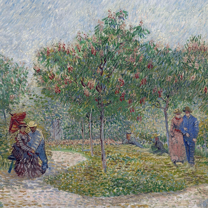 ​Garden with Courting Couples: Square Saint-Pierre (detail) by Vincent van Gogh