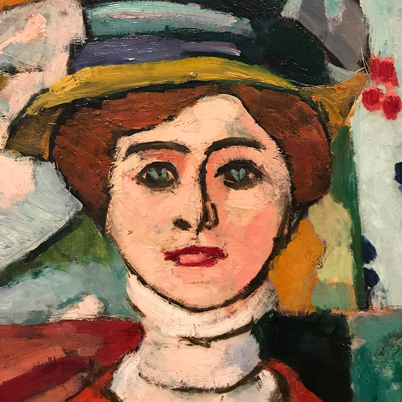 Girl with Green Eyes (detail) 1908 ​by Henri Matisse