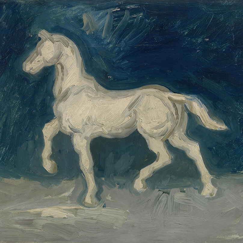 Horse (detail) by Vincent van Gogh