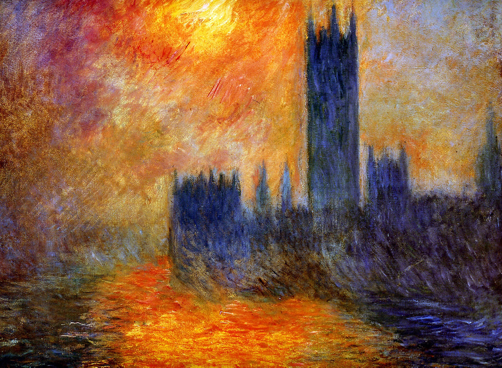 Houses of Parliament, Sun (1903) by Claude Monet
