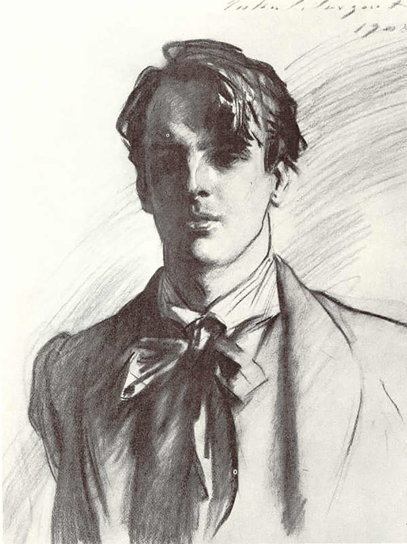 Portrait of William Butler Yeats by ​John Singer Sargent​ | Lone Quixote