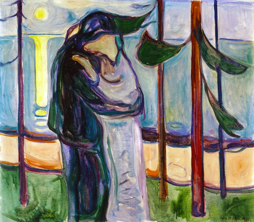 Kiss by the Shore (1921) by Edvard Munch