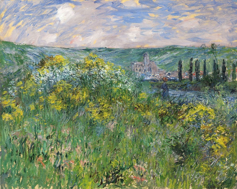 Landscape near Vetheuil (1881) by Claude Monet