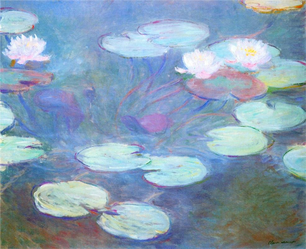 Water Lilies, Pink (1899) by Claude Monet