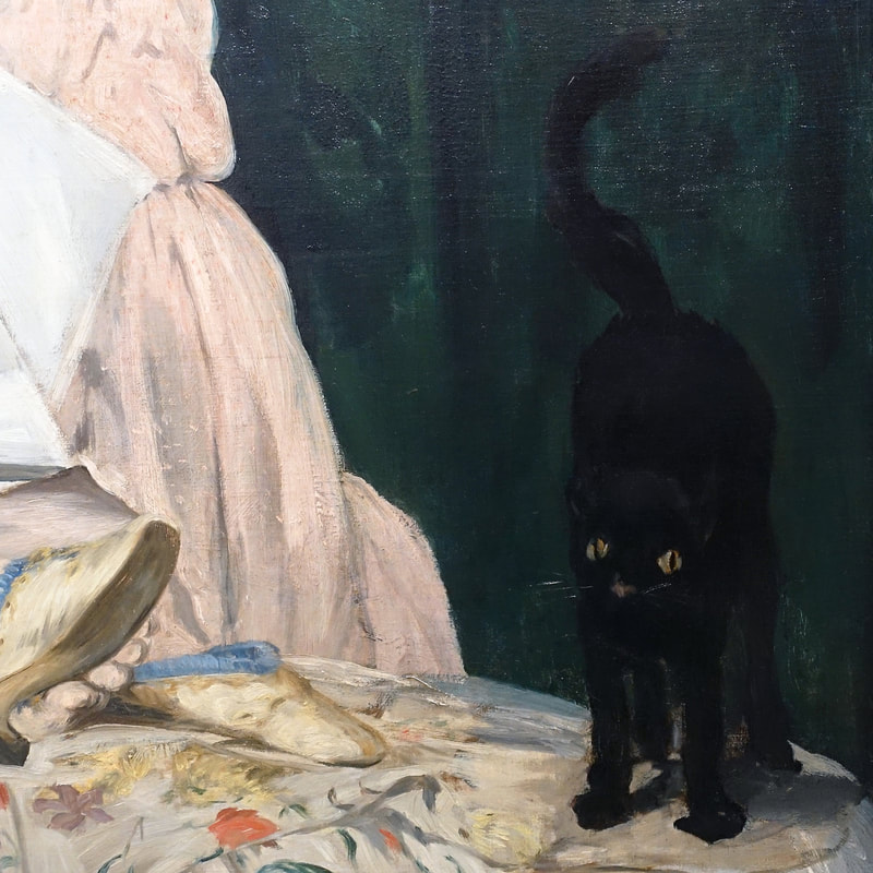 Olympia (detail) [1863]  by Edouard Manet