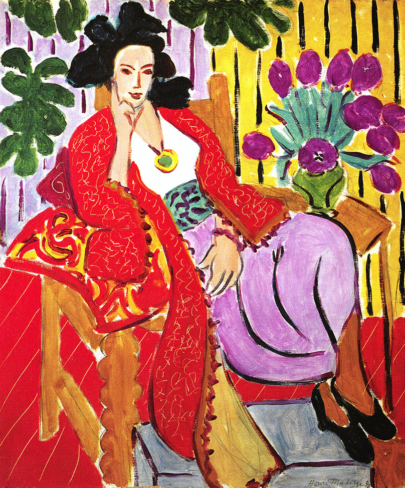 Odalisque with the Red Coat (1937) by Henri Matisse