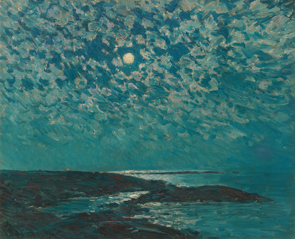 Moonlight, Isle of Shoals by Childe Hassam ​