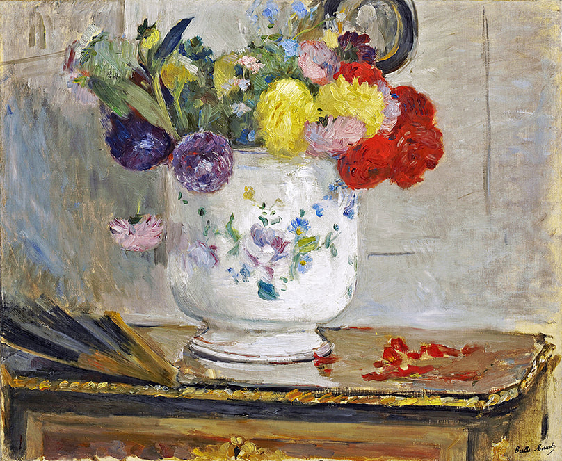 Dahlias (1876) by Berthe Morisot