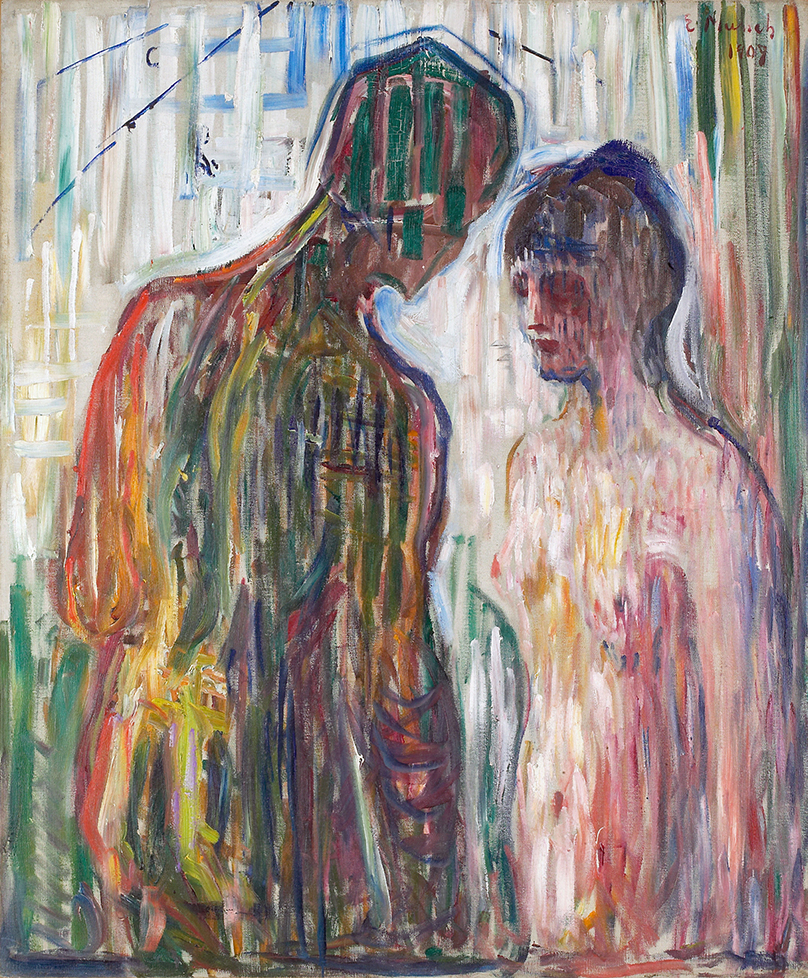 Cupid and Psyche (1907) by Edvard Munch