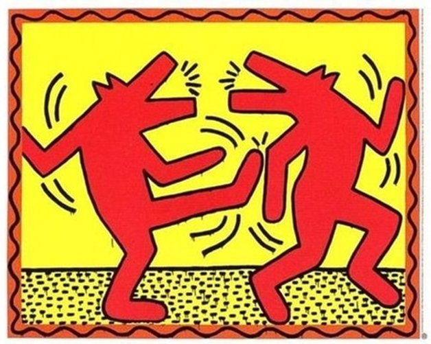 Dancing Dogs by Keith Haring