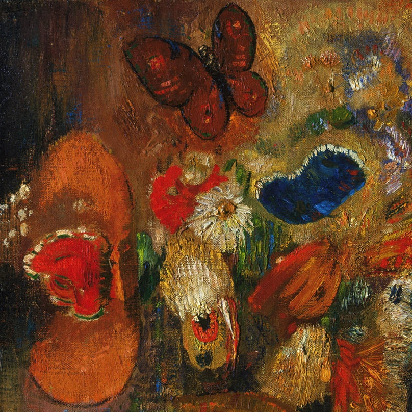 Apparition (detail) by Odilon Redon