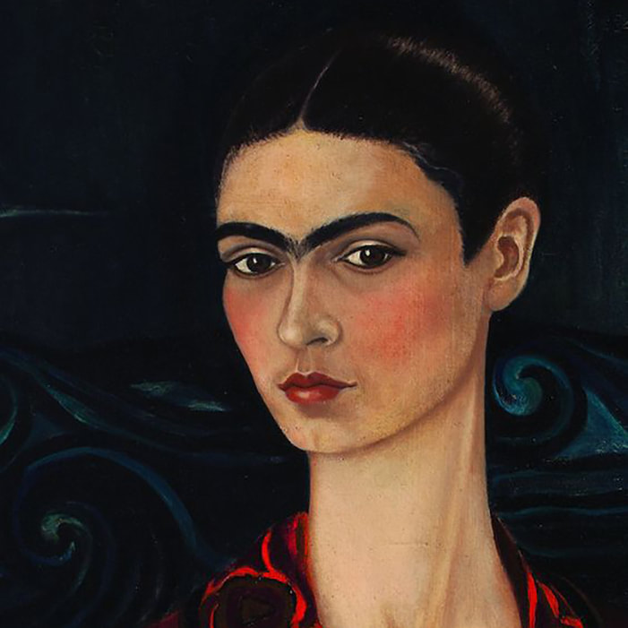Self Portrait in a Velvet Dress (detail) ​[1929] by Frida Kahlo