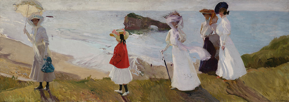 Lighthouse Walk at Biarritz (1906) by Joaquin Sorolla