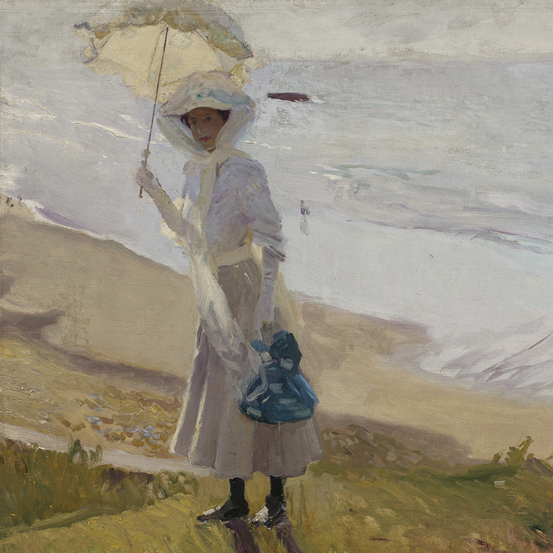 ​​Lighthouse Walk at Biarritz (detail) 1906 by Joaquin Sorolla