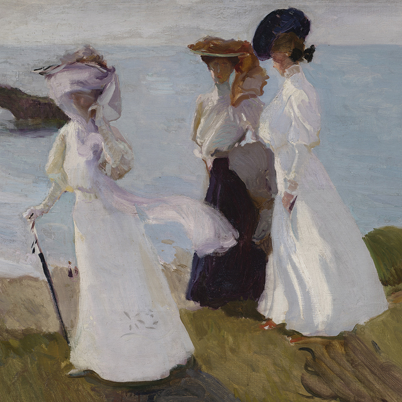 Lighthouse Walk at Biarritz (detail) 1906 by Joaquin Sorolla