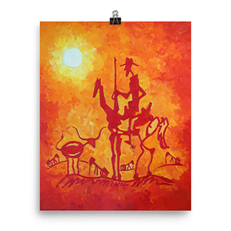 The Lone Quixote Art Print